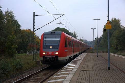 Der komplette Dresdner 612 Bestand als Fußballsonderzug von Chemnitz nach Dresden in Niederbobritzsch