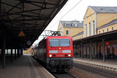 Gastspiel auf der DW- 143 065 aus Cottbus (ex Rostock)