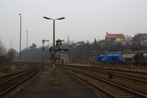 253 014 der Press im Bahnhof Zittau