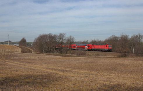 143 047 mit RE 3 nach Dresden bei Niederbobritzsch