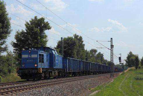 204 011 mit einem leeren Kohlezug von Plauen? nach Görlitz