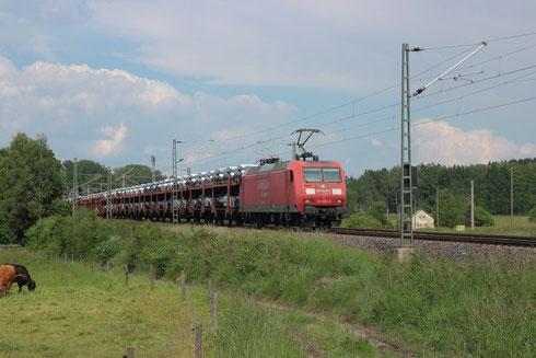 145 056 mit Sonderautovollzug bei Colmnitz
