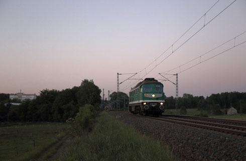 V300 001 auf dem Weg von Bad Schndau nach Chemnitz Hilbersdorf bei Colmnitz