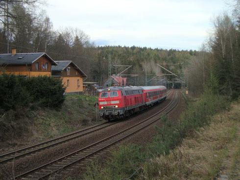 218 430 mit Leerzug von Zwickau nach Dresden