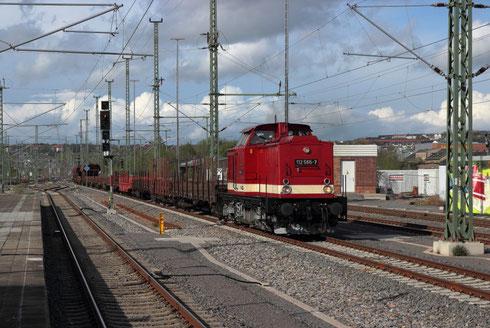 Press 112 565 mit Schadwagengz im Chemnitzer Hauptbahnhof