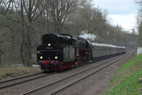 01 509 und 118 770 am Zugschluss am Seerenteich