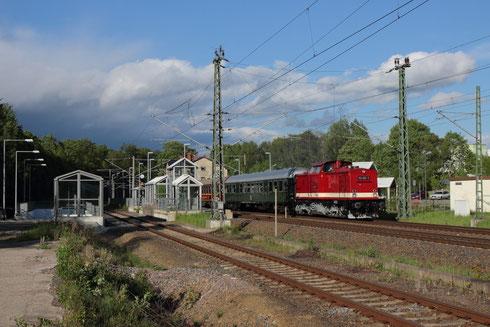 112 565 mit Wagenüberführung im Bhf Klingenberg Colmnitz