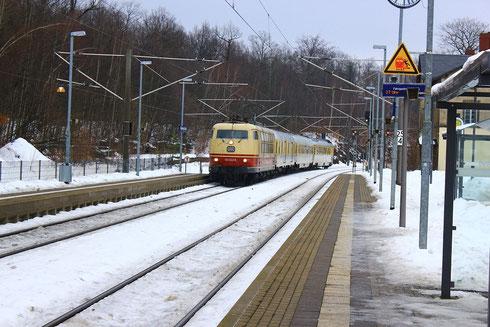 103 222 bei Schallmessfahrt in Kligenberg-Colmnitz