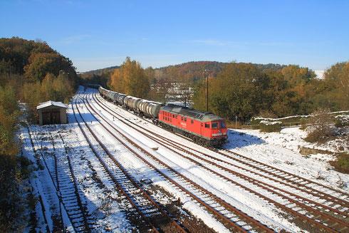 241 697 mit verspätetem Kesselzug von Rhäsa in Nossen