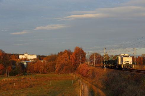 106 007 als Ausbildungsfahrt auf dem Weg nach Freiberg bei Colmnitz