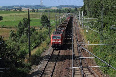 185 010+047 mit EZ 45313 im Bhf Klingenberg-Colmnitz