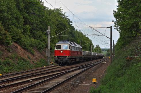 232 356 mit Schwellenzug in Klingenberg