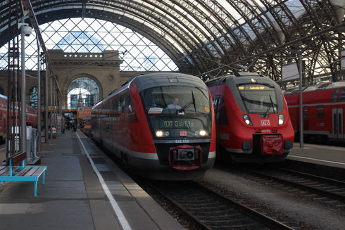 DB Regio 642 656 im Auftrag der Vogtlandbahn als TLX 1 nach Görlitz