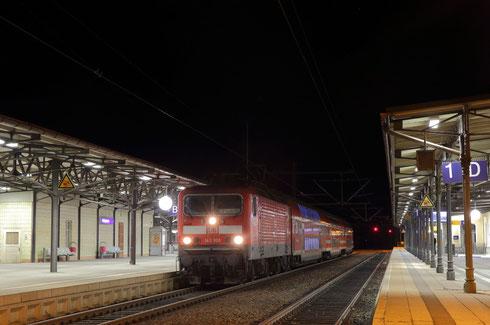 143 909 mit RE 3 in Freiberg