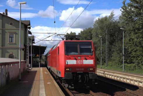 146 016 als RB 30 nach Dresden in St Egidien