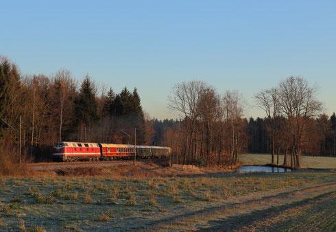 118 770 mit Sonderzug vor Klingenberg