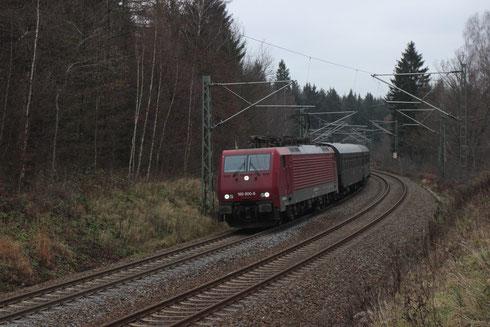 189 800 mit einem Sdz von Cottbus nach Chemnitz bei Klingenberg