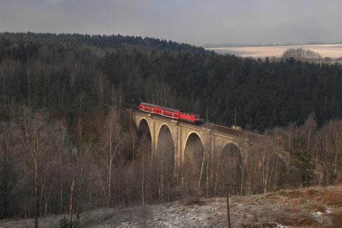 143 585 mit RB 30 auf dem Muldenhüttener Viadukt