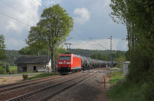 185 166 mit Kesselzug GC 62329 nach Ingolstadt