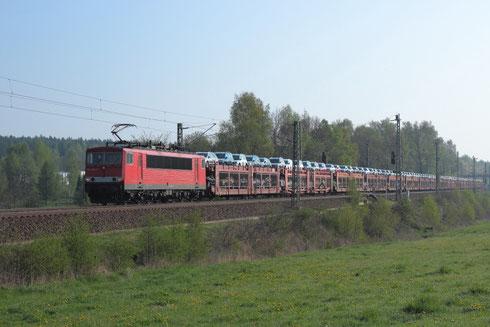 155 055 mit Sonderautovollzug bei Colmnitz