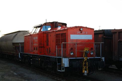 298 301 abgestellt im Bahnhof Freiberg