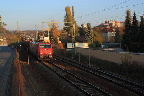 189 800 mit Kokszug nach Lichtenstein in Pirna