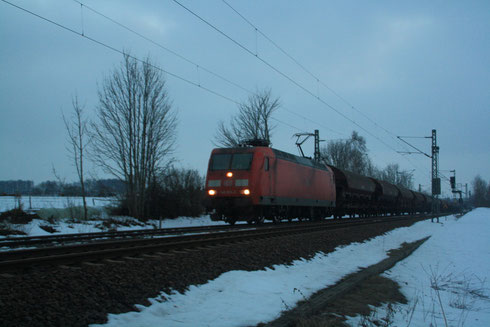 145 078 mit Getreidevollzug am BÜ Colmnitz