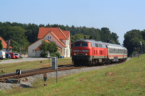 218 345 mit IC nach Köln in Ückeritz