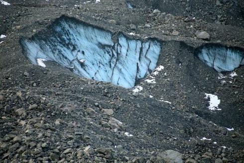 タスマン氷河末端