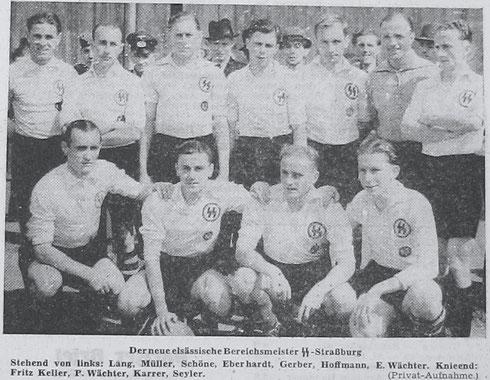 SS-Straßburg - Meister der Bereichsklasse XIV a ( Elsaß ) 1941/42