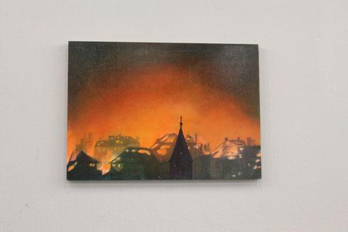 """Bild in der Ausstellung """"Krieg! Hurra!"""""""