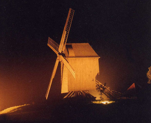 Le moulin de Saint-Maxent, vers 1980- Photo: Patrice Lenne