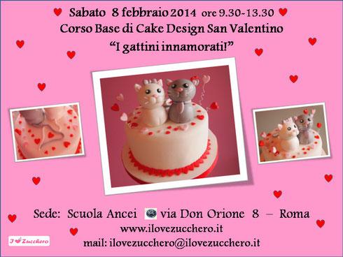 Corsi Cake Design Roma Sud : Programma Corso San Valentino 2014 - Ilovezucchero sito ...