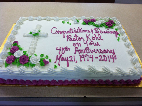 The Cake: His 20th Anniversay with us!