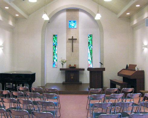 ホサナ教会 2階の礼拝堂