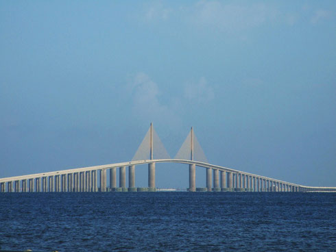 The Sunshine Skyway Bridge, Tampa Bay, FL