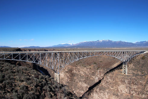 Rio Grande Gorge Bridge in der Nähe von Taos, NM