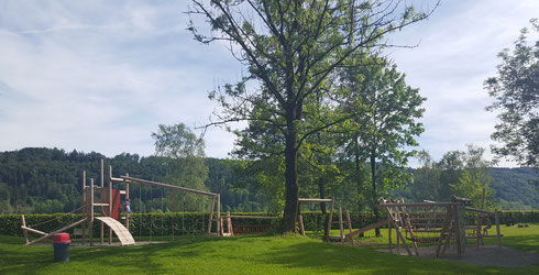 Neu seit Mai 2016: Kinderspielplatz im Aussenbereich