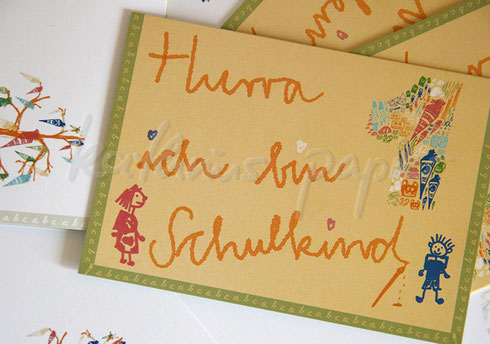 Kathrins Papier Klappkarte Schule