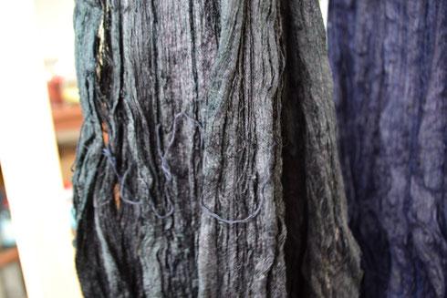 本藍黒(水戸黒) 2回目の染色です