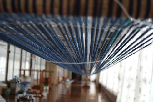 糸をのべた後吊って調整しますが、今回はうまくいったようです