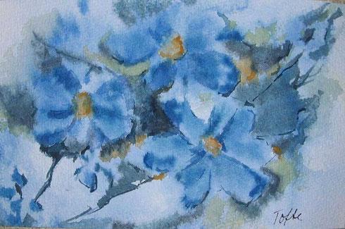 Fechsung zur Sippung der blauen Blume der Romantik