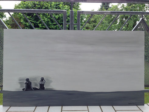 Öl auf MDF Platte (70 x 140 cm)