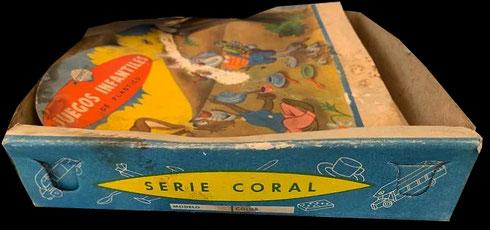 La denominación 'Coral' en una de las series de vajillas de plástico de los años 50.