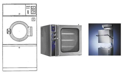 写真2 ガス乾燥機、電気オーブン、食器洗浄器