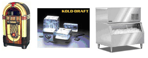 写真1 ジュークボックス、製氷機