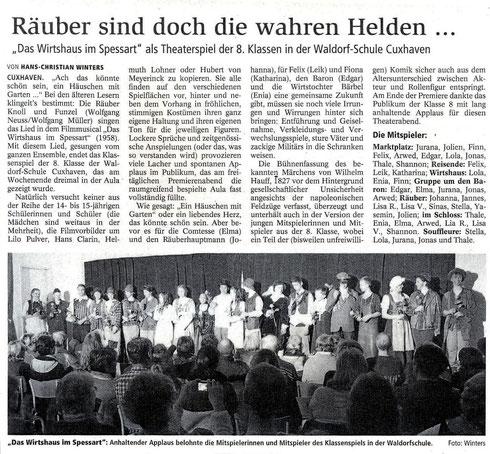 """Artikel """"Räuber sind die wahren Helden..."""" aus CN, 24.03.2014"""