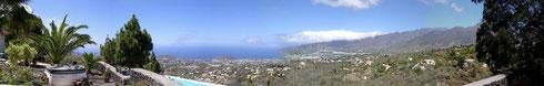 Panoramablick von der Terrasse des Zentrums