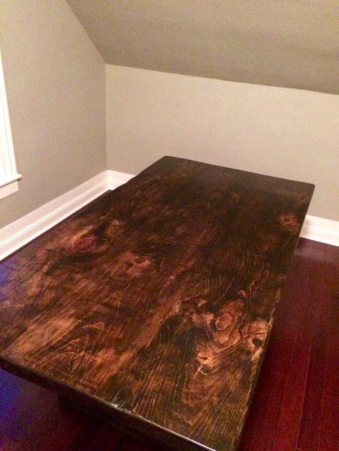 Pine barnboard table