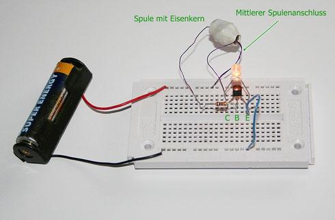 LEDs mit nur einer Batteriezelle betreiben - Elektronische Basteleien